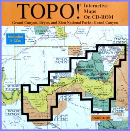 TOPO Interactive Maps On CDROM By Wildflower Productions - Interactive topo map