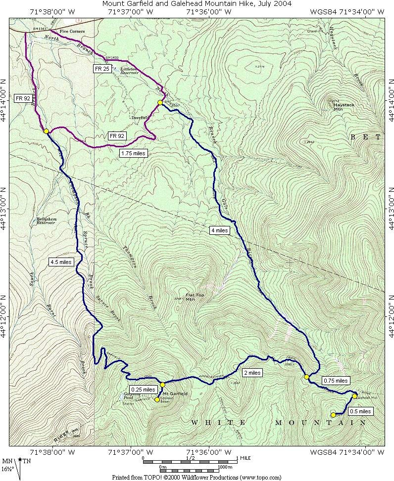 A Day Hike on Mount Garfield and Galehead Mountain in New