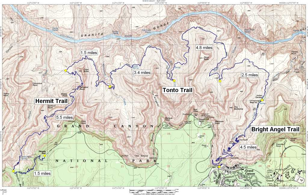 Day 12 Day hiking the Hermit Tonto and Bright Angel trails