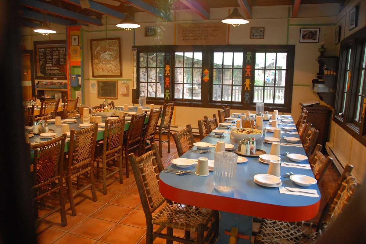 Phantom Ranch Canteen Set For Dinner Grand Canyon Arizona