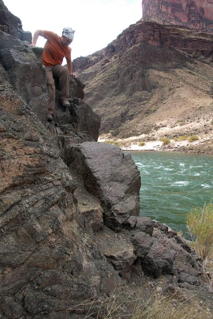 Descending To Bonita Creek Granite Gorge Route Grand