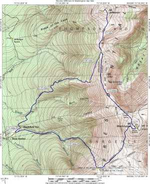 Jewell Trail Mt Washington Map.Mount Jefferson Mount Washington Day Hike